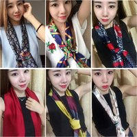 Wholesale Promotion Neckerchief Fashion cm Blue Black Cream Beige The New Spring And Summer Scarf Women Will Have A Double Satin with Long