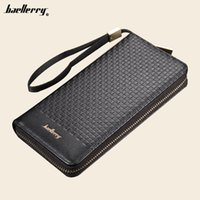 Wholesale Long Handle Purses - Baellerry Mens' Zipper PU Leather Wallet Men Clutch Hand Bag Male Fashion Clutch Purse with handle
