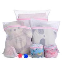 Wholesale pants machines - 50*60CM Laundry Bags Washing Care Washing Machine Wash Bag Zipper Mesh Bag for Washing Coat Down Jackets Pant Winter Clothing