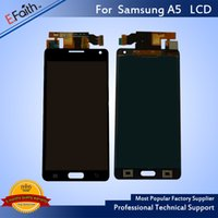 Wholesale Galaxy S4 Lcd Black - For Samsung Galaxy A5 Black LCD Screen Panel For Repalcement & Free Shipping