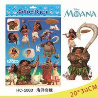 Wholesale Reward Stamps - Cartoon Stamping Stickers 20*30cm Kids Trolls Moana Foil Stickers Reward Sticker Movie Action Figures Children Stickers OOA2303