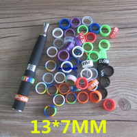 Wholesale Ego Batteries Oem Wholesale - OEM Anti-Slip potective & Decoration Silicone Rubber Vape Bands 13mm 14mm mod ring eGo EVOD X6 Battery&22mm Mod eCig Free Shipping