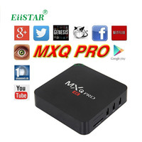 Wholesale Iptv Set Top - 1 PCS MXQ 4K Android 5.1 Smart TV Box Rockchip RK3229 Quad Core 32Bit UHD 4K 2K H.265 Support WiFi 2.4GHz 4K Media Player IPTV Set top box