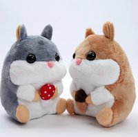Wholesale Amuse Plush - Wholesale- high quality 1pcs 20cm cute plush toy Amuse soft hamster stuffed doll little Hamsters plush toy for children best gifts
