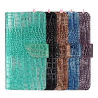 Wholesale Wallet Cover Iphone Snake - Fashion Bling Lizard Croco Grain Wallet Leather Pouch Case For Iphone 7 I7 Plus Iphone7 Snake Stand Card Photo Frame Cover Luxury 150pcs