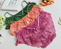 Wholesale Sexy Underwear Ladies Japan - 10PCS LOT Ladies Underwear Lace Underwear Sexy Appeal Japan And South Korea Girl Low Waist Briefs