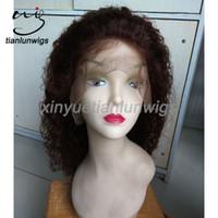 pelucas de color para mujer al por mayor-Nueva moda pelucas de pelo largo Spanish Wave Womens Hair peluca llena de varios colores en stock frente de encaje peluca cabello humano # 4
