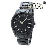 Wholesale Super Slim Watches - New Mens Super Slim Black Ceramica Watch AR1440 Watches CHRONOGRAPH Crystal Quartz Best Quality WITH ORIGINAL BOX