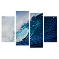 Digital printing spraying interior paint - HD Surf Picture Canvas Printing Blue Ocean Giclee Prints for Interior Decoration Love Surfing Canvas Painting Panels