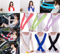 Wholesale long sleeve mittens for sale - Group buy Summer Sunscreen Sleeves Rider Drive Ran Half Mittens Outdoor Activities Sunscreen Gloves Anti UV Thin Summertime Long Sleeve Colors M0688