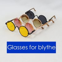 Wholesale Bjd Glasses - Doll Accessories glasses for blyth doll 1 6 30cm gift toy bjd neo