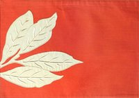 Wholesale Embroidered Placemat - Wholesale- Maple Leaf Embroidery Placemat Embroidered Dining Mat