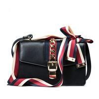 Wholesale Black Fringe Ribbon - Sylvie bag women shoulder strap bag fashion leather handbags fringe Ribbons messenger bags chain bag luxury famous brand handbags