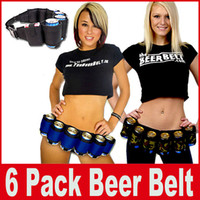 Unisex pack soda - 6 Pack Beer Holster Outdoor Mountaineering Beer Belt Canvas Adjustable Camping Parties Carry Drinks Soda Can Holder Belt