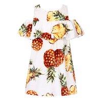 Wholesale Short Enfant - Girls Summer Dresses Pineapple Printed Robe Fille Enfant Princess Dress Girl Costume Kids Clothes 2017 Brand Children Dress