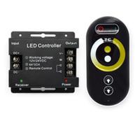 dimmer-modul großhandel-DC12V 24V 12A Touch RF FARBE Temperatur Dimmer Controller warmweiß LED Controller für SMD 5050 3528 LED Streifen Lichter LED Module