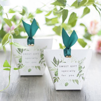 Wholesale free chinese new year cards resale online - Unique European Paper favor holders Forest series candy boxes for wedding party guests wholesales