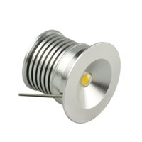 Wholesale Wine Cabinet Lights - Wholesale- 1W x 6pcs 3W MINI LED Downlight Warm White Jewelry Wine LED Cabinet Light LED Recessed Light