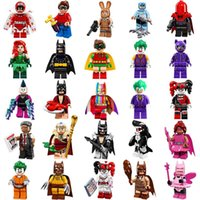Wholesale Men Built - 25pcs lot Bat Movie 71017 Figures Complete Set Super Heroes Minifig Bat Man Super Hero Rainbow Bat Mini Building Blocks Figure Toys