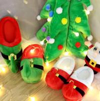 Wholesale Wholesale Suites - 2 Colors Christmas Parent-Child Suite Home Cotton Slippers Fashion Leisure Accessories Unisex Funny Slippers 2pcs pair CCA8264 50pair