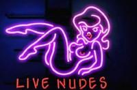 ingrosso ragazza, bar, neon, luce, segno-17