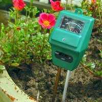 Wholesale Precision Lighting - Wholesale- 3 in 1 High precision PH Tester Soil Water Moisture Light Test Meter for Garden Plant Flower Kit Hydroponics Analyzer