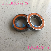Wholesale Rs 18 - Wholesale- 2pcs lot 6903 18 18307-2RS 18307 6903 RS MR18307-2RS No standard bike bicycle bearing 18x30x7 18*30*7