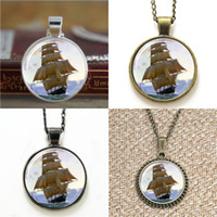 Wholesale sail bracelet resale online - 10pcs Nautal Sailing Ship On The Ocean Pendant Necklace keyring bookmark cufflink earring bracelet
