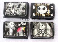 Wholesale Wallet Purse Children - Hot sale 24 pcs lot Cartoon The Nightmare Before Christmas children wallets purses