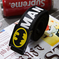 Wholesale Girls Hot Fashion Young - Canvas belt classic men women boys girls Ribbon waist fashion popular young high quality free size hot selling student batman canvas black