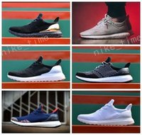 Wholesale Ladies Black Leather Sneakers - 2017 Men & Women Unisex Hypebeast X Uncaged Ultra Boost Male Lady Running Sneaker Shoes Black Gold White Grey Free Drop Shipping