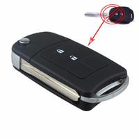 Wholesale Key Fob Toyota - Guaranteed 100% 2 Buttons Uncut Flip Remote Key Shell Case Fob for Toyota RAV4 Corolla Avalon Free Shipping