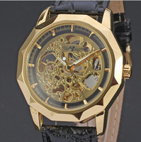 Wholesale Winners Watch Sale - Hot Sale Winner Skeleton Automatic Mechanical Watch Men Date Mechanical Watches Small Seconds Wristwatch