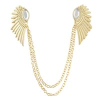 Wholesale Gold Pendant Designs For Women - Hot Selling Vintage Wing Design Alloy False Collar Necklace For Women Fashion Jewelry
