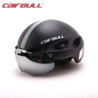 Wholesale Mountain Red Helmet - Magnetic Goggle Cycling Helmet Casco Ciclismo Ultralight In-mold Bike Bicycle Helmet With Glasses Road Mountain Helmet 54-62CM#18