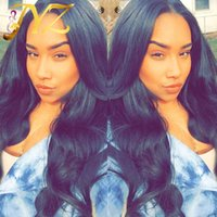 Wholesale Synthetic Lace Wig Hairline - Goldleaf Hair Wigs Human Hair Wig Top Quality Body Wave Malaysian Peruvian Full Lace Wigs For Black Women Lace Front Wig Natural Hairline