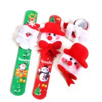 Wholesale Snowman Gifts Make - Christmas decorations Santa Claus snowman Non-woven fabric Making bracelets Cartoon ring Fine gifts festival stock Holiday gifts