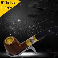 2017 Mais novo E Pipe 618 Plus Pen Vapor E-cig Vaporizador Full Kit Smoking Set Starter 1200mAh Built-in Battery Ceramic Atomizer Core