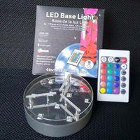 shisha-stöcke großhandel-Shisha Shisha LED-Licht batteriebetriebene Lichter mit Fernbedienung für Hochzeitsfest Zubehör Dekorationen Kerzenständer Stock Basisleuchten