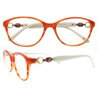 Wholesale Spectacle Frames Light - Office Lady New oval light weight delicated gold temple decoration women stylish moderen fashionable Spectacles frames