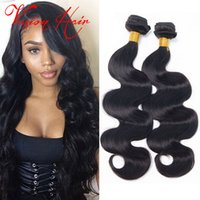 5a Tissage De Cheveux Vierges Brésilien Pas Cher-Body Wave Virgin Hair Bundle Deals 3 Pcs / Lot 5a Brazilian Hair Weave Non transformé Malaysian Indian Peruvian Cheap Hair Weaves Extensions Sale