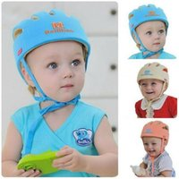 Wholesale Baby Safety Bump - Baby Toddler Safety Helmet Headguard Cap Adjustable Hat No Bumps Kids Walk Learning Helmets Protective Hat Gear Cap