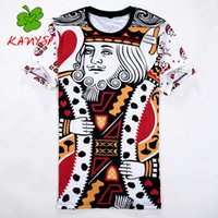 Wholesale Cartoon Tshirt Wholesale - Wholesale- Men's T-shirt hip-hop versae tee 3D cartoon print pattern slipknot tshirt men's brand new listing Men's casual KANYSP