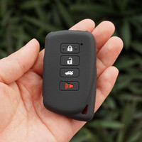 Wholesale Remote Cover For Lexus - silicone rubber key fob cover case skin for Lexus IS ES GS LS NX GX RX LX RC 200 250 350 570 450H 300H remote keyless protected