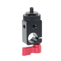 "Wholesale video screw - CAMVATE Single Rod Clamp 15mm with 1 4"" Mount Screw Adapter fr DSLR Camera Video Light"