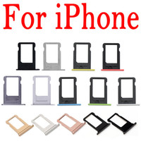 Wholesale Tray For 4s - SIM Card Tray Holder For iPhone 4G 4S 5 5G 5C 5S 6G 6 6S 7G 7 Plus 4.7 5.5 Replacement