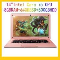 Wholesale Dual Cpu Computer - 14inch Intel Core i5 CPU 8GB+64GB+500GB Dual Capacities 1920X1080P FHD Resolution Fast Run Laptop Notebook Computer