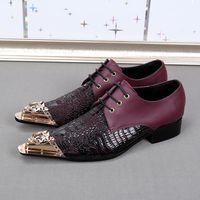 низкая торговая обувь оптовых-Внешняя торговля английская мода личность досуг кожа остроконечные красные низкие ботинки помощи мужская обувь отлива