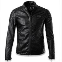 Wholesale Best Leather Jackets Sell - In 2016, best-selling Europe and the United States style personality contracted cultivate one's morality short motorcycle leather jackets