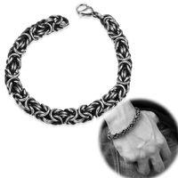 Wholesale Punk Accessories Titanium - Link Design Bracelet Punk Vintage Titanium Jewelry Men 316L Stainless Steel Bracelet Accessories Hip Hop Style Men's Top Quality Cool Gift